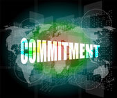 Business concept: word commitment on digital touch screen — Stock Photo