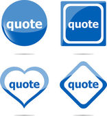 Quote stickers label tag set isolated on white — Stock Photo