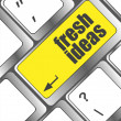 Fresh ideas button on computer keyboard key — Stock Photo