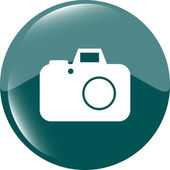 Camera web icon isolated on white background — ストック写真