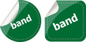 Band word on stickers button set, label, business concept — Stok fotoğraf