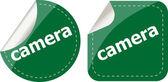 Camera word stickers set, web icon button — Stock Photo
