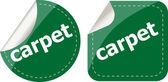 Carpet word stickers set, web icon button — Stock Photo