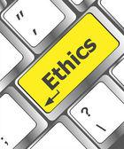 Pojęcie etyki na klawiaturze nowoczesnego komputera — Zdjęcie stockowe