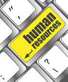 Bouton de ressources humaines sur la touche de clavier d'ordinateur — Photo