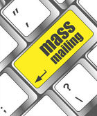 Marketing concept: computer keyboard with word Mass Mailing — Stock Photo