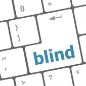 Modern keyboard key with words blind — Stock Photo