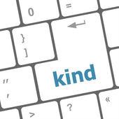 Bilgisayar klavye anahtar tür girin düğmesini — Stok fotoğraf