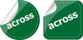 Across stickers set, icon button isolated on white — Stock Photo