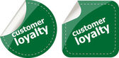 Customer loyalty stickers set on white, icon button isolated on white — Stock Photo