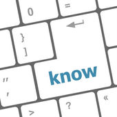 Know knowledge or education concept button on computer keyboard — Stock Photo