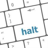 Halt keys on computer keyboard, business concept — Stock Photo