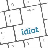 Idiot word on computer pc keyboard key — Stock Photo