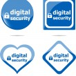 Digital security stickers label tag set isolated on white — Stock Photo #45416597