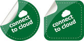 Stickers label set business tag with connect to cloud word — Stock Photo