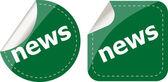 News stickers set on white, icon button — Stock Photo