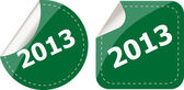 2013 Labels, stickers, pointers, tags for your (web) page — Stock Photo