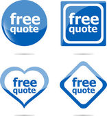 Free quote stickers label tag set isolated on white — Stock Photo