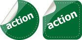 Eylem etiketleri kümesini, kutsal kişilerin resmi düğme beyaz izole — Stok fotoğraf