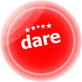 Dare word red web button, label, icon — Stock Photo