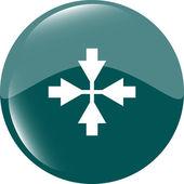 Mouse cursor sign icon. Pointer symbol. Modern UI website button — Stock Photo