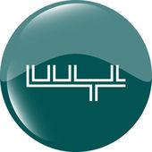 значок приложения. абстрактный знак на веб кнопку, изолированные на белом — Стоковое фото