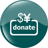 Donate sign icon. Dollar usd and yen symbol — Stock Photo