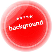 Background word on red stickers button, label — Stock Photo