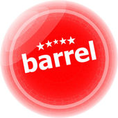 Barrel word on stickers red button, business label — Stock Photo