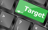 Target button on computer keyboard. business concept — Foto de Stock
