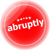 Abruptly red stickers on white, icon button — Stock Photo