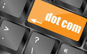 Dot com button on computer keyboard key — Stock Photo