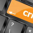 Crm keyboard keys (button) on computer pc — Stock Photo #46623857