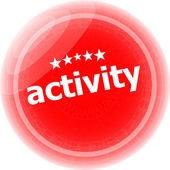 Наклейки набор активность, значок кнопки, изолированные на белом — Стоковое фото