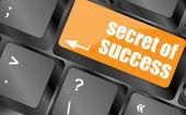 Geheim van succes knop op computer toets op het toetsenbord — Stockfoto