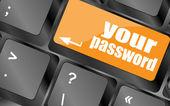 Il pulsante password sulla tastiera - concetto di sicurezza — Foto Stock