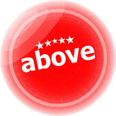 Above word red stickers icon button — Stock Photo