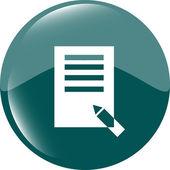 Edit document sign icon. Edit content button. Modern UI website button — Stock Photo
