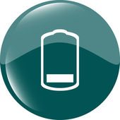 Battery low level sign icon. Electricity symbol. Modern UI website button — Stock Photo