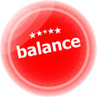 Balance word on red stickers button, label, business concept — Stock Photo #46973345