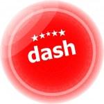 Dash word red web button, label, icon — Stock Photo #46973821
