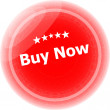 Buy now word on red stickers button, business label — Stock Photo
