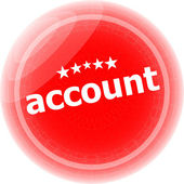 Account red stickers, web icon button — Stock Photo