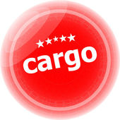 Cargo word stickers red button, web icon button — Стоковое фото