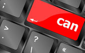 Can word written on computer keyboard key button — Stock Photo