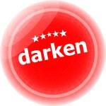 Darken word red web button, label, icon — Stock Photo #47039023