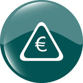 Web icon on cloud with euro eur money sign — Stock Photo