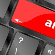 Keyboard (detail) with Americium element button — Stock Photo #47040591