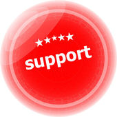 Support on red rubber stamp over a white background — Stock Photo