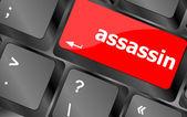 Assassin word on computer pc keyboard key — Stock Photo